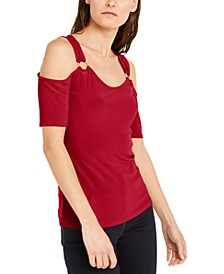 INC O-Ring Cold-Shoulder Top, Created For Macy's