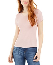 Juniors' Lace-Trim T-Shirt