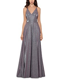 Metallic Glitter Gown