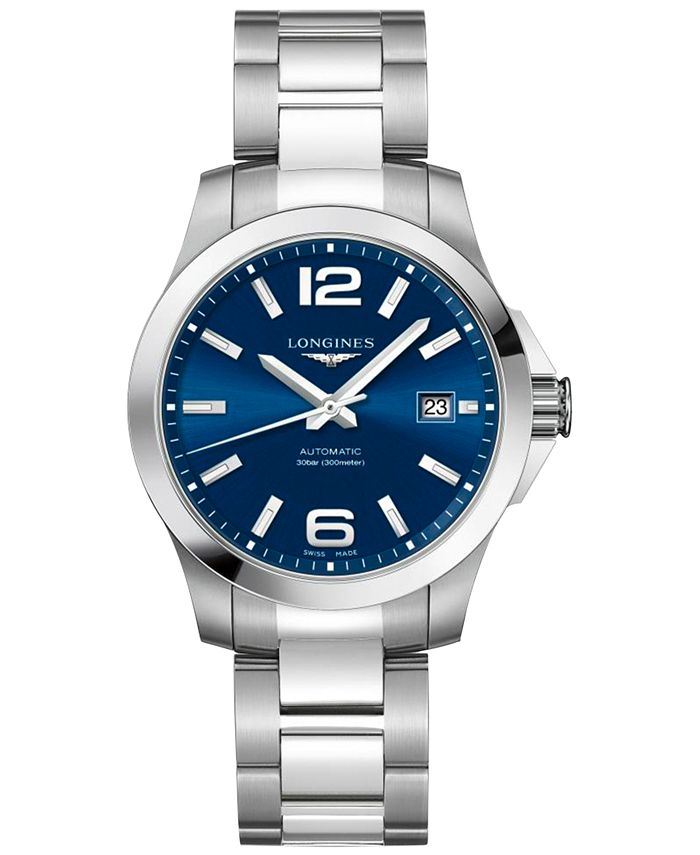 Longines - Men's Swiss Automatic Conquest Stainless Steel Bracelet Watch 39mm
