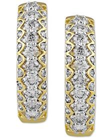 Diamond Small Hoop Earrings (2 ct. t.w.) in 10k Gold