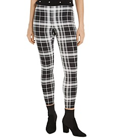 Plaid Pull-On Ponté-Knit Pants, Created for Macy's