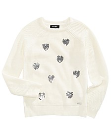 Big Girls Sequin Hearts Sweater