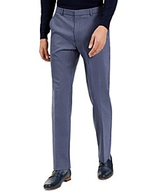Men's Classic-Ft Stretch Mini-Grid Dress Pants