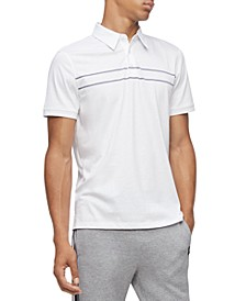 Men's Classic-Fit Engineered Stripe Polo Shirt