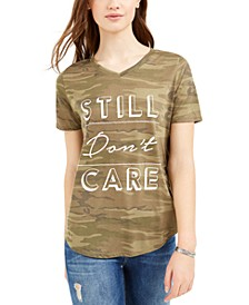 Juniors' Still Don't Care Graphic T-Shirt