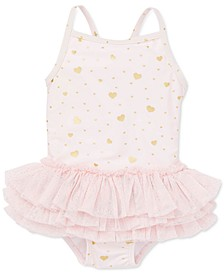 Baby Girls 1-Pc. Heart-Print Swimsuit