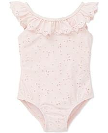 Baby Girls 1-Pc. Eyelet Swimsuit