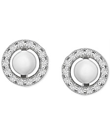 Diamond Circle Earring Jackets (1/6 ct. t.w.) in 14k White Gold