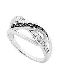Diamond (1/8 ct. t.w.) Infinity Band in Sterling Silver