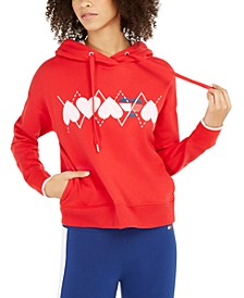 Heart-Graphic Hoodie