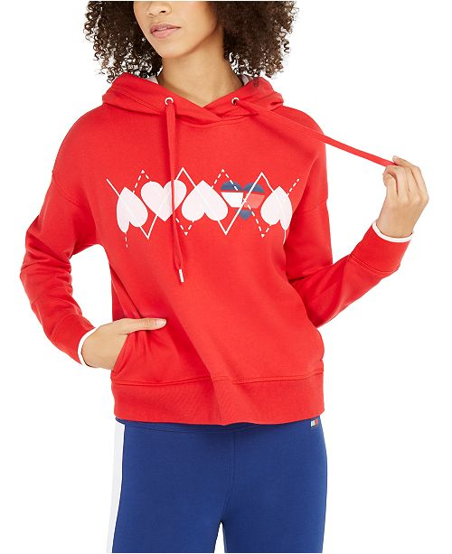 Tommy Hilfiger Heart-Graphic Hoodie