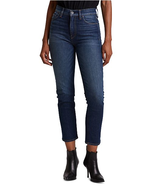 Hudson Jeans Holly Cropped Straight-Leg Jeans