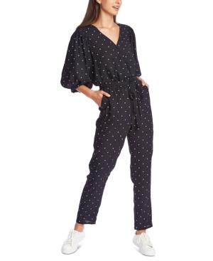 Image of 1.state Belted Polka-Dot Jumpsuit