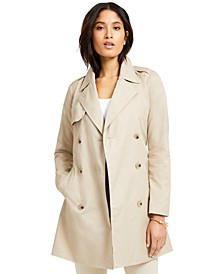 Classic Solid Trench Coat, Created for Macy's