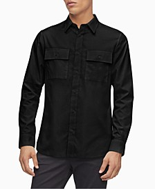 Men's Regular-Fit Twill Utility Shirt