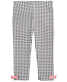Baby Girls Gingham Bow Leggings, Created For Macy's