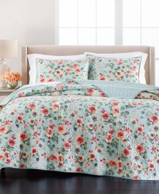 Garden Floral Twin Quilt, Created for Macy's