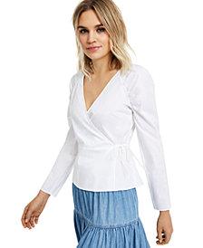 INC Puff-Sleeve Wrap Top, Created for Macy's