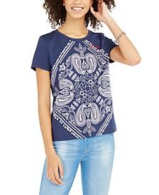 Bandana-Print T-Shirt