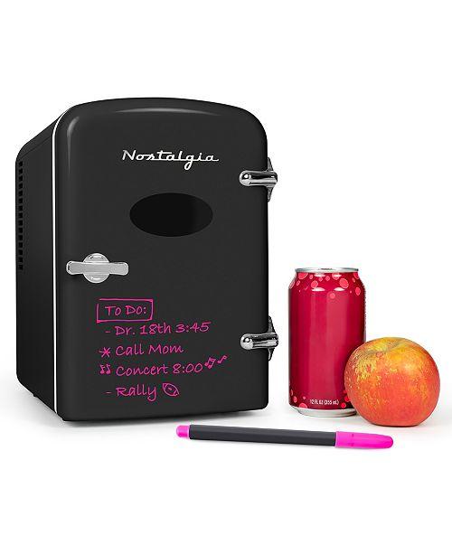 Nostalgia Retro 6-Can Dry Erase Personal Refrigerator RF6RRBK