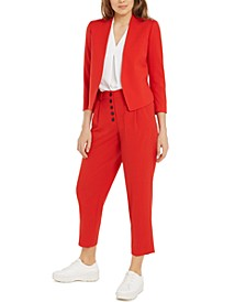 Open-Front Blazer, Inverted-Pleat Top & High-Waist Pleated Pants, Created for Macy's