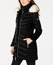 Faux-Fur Trim Puffer Coat