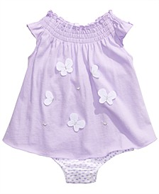 Baby Girls Cotton Butterflies Sunsuit, Created For Macy's