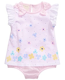 Baby Girls Floral Skirted Romper, Created for Macy's