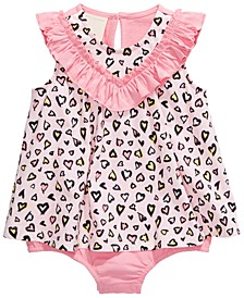 Baby Girls Cotton Hearts Sunsuit, Created for Macy's