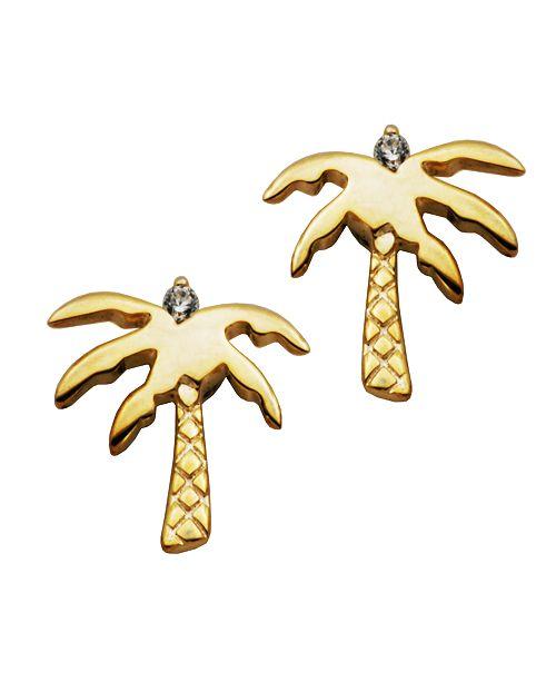 Macy's Palm Tree Earrings in Fine Silver Plate