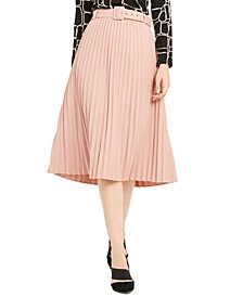 Pleated Belted Midi Skirt, Created For Macy's