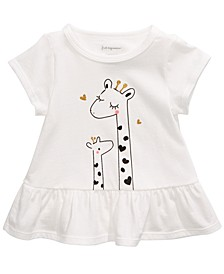 Baby Girls Giraffe Peplum T-Shirt, Created For Macy's