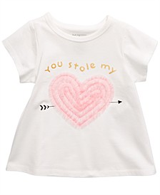 Baby Girls Cotton You Stole My Heart T-Shirt, Created For Macy's