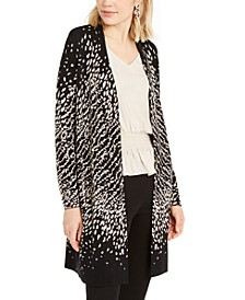 Petite Ombré Printed Cardigan, Created For Macy's