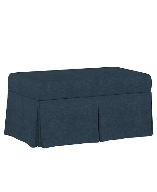 Martha Stewart Collection Lily Pond Collection Skirted Storage Bench