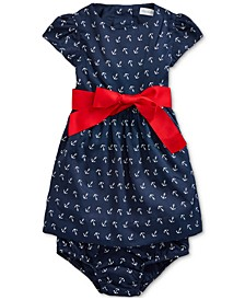 Baby Girls Anchor Fit & Flare Dress