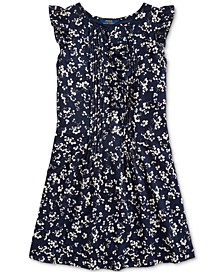 Big Girls Floral Cotton Dobby Dress