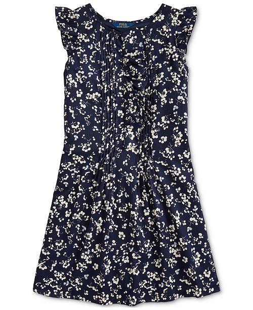 Polo Ralph Lauren Big Girls Floral Cotton Dobby Dress