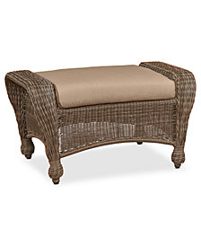 Sandy Cove Wicker Outdoor Ottoman: Custom Sunbrella®, Created for Macy's