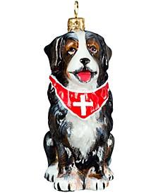 Bernese Mt Dog with Swiss Cross Bandana