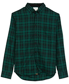 Men's Taped Tuscumbia Regular-Fit Plaid Shirt