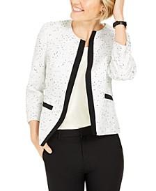 Contrast-Trim Tweed Jacket