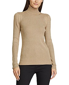Turtleneck With Puffed Sleeves