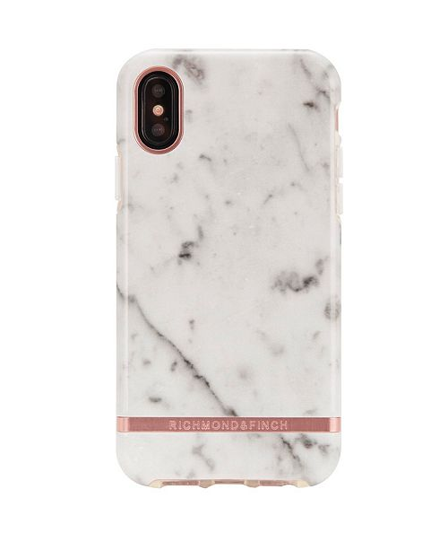 Richmond&Finch White Marble Case for iPhone X and Xs