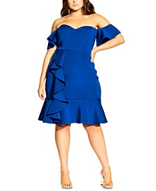 Trendy Plus Size Flutter Away Dress