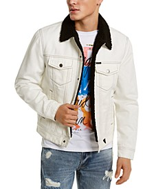 Men's Denim Fleece-Lined Jacket