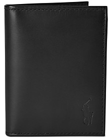 Men's Burnished Leather Window Billfold Wallet