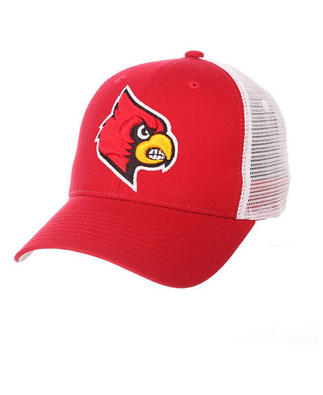 Zephyr Louisville Cardinals Big Rig Mesh Snapback Cap