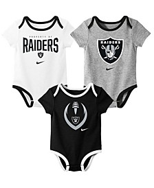 Baby Oakland Raiders Icon 3 Pack Bodysuit Set